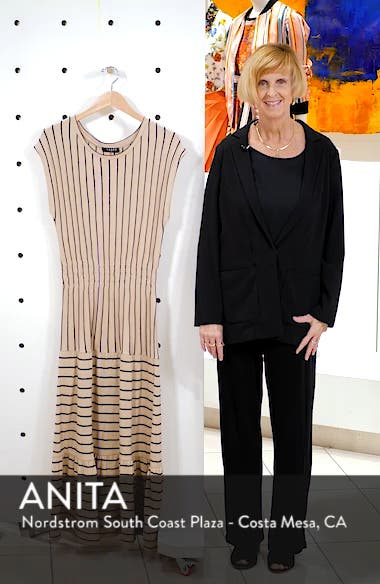 Wesley Stripe Tiered Cotton Knit Dress, sales video thumbnail