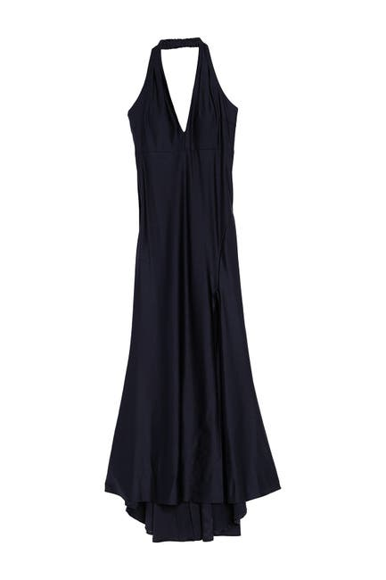 Image of JUMP Satin Halter Neck Gown