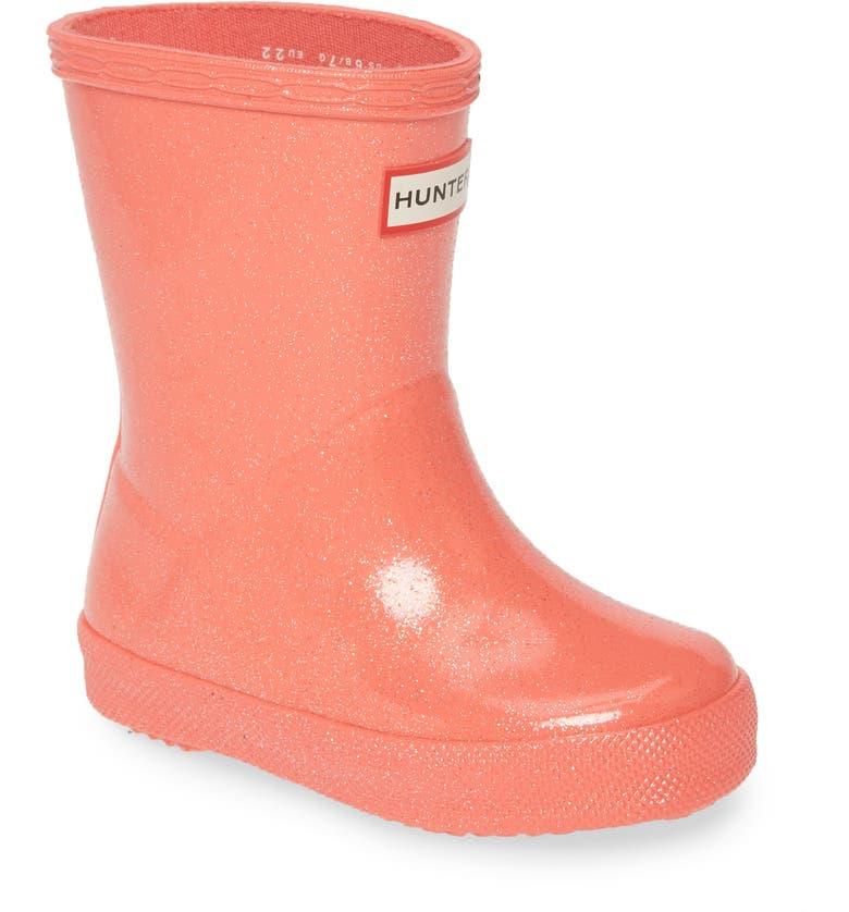 HUNTER Kids First Classic Starcloud Glitter Rain Boot, Main, color, RHYTHMIC PINK