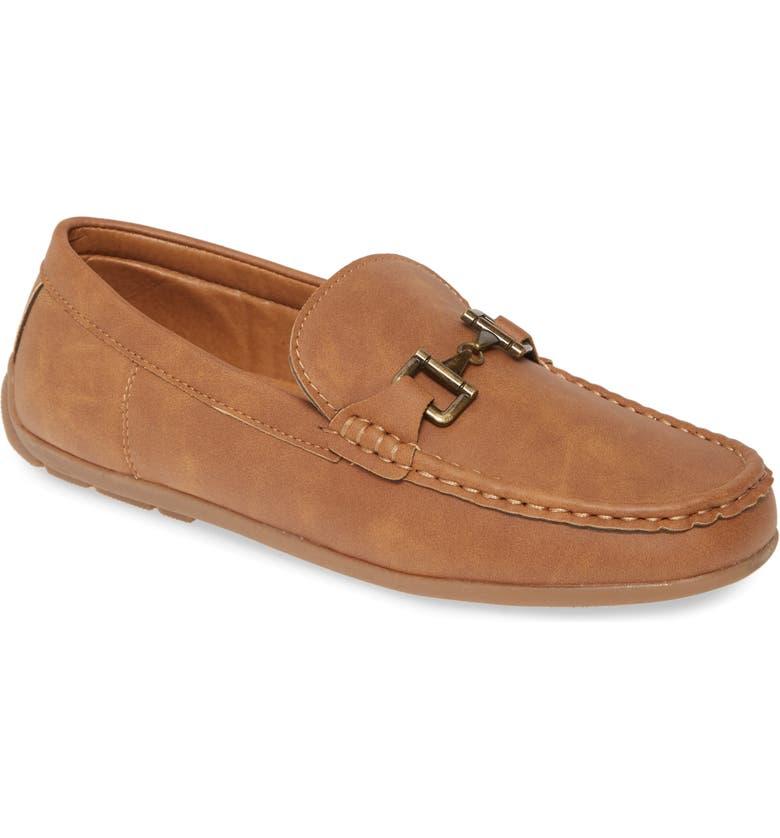 STEVE MADDEN Blange Driving Loafer, Main, color, NATURAL LEATHER