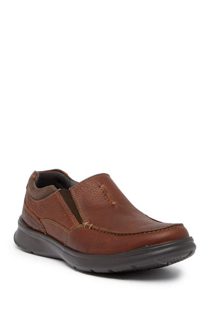 Image of Clarks Cotrell Leather Slip-On Venetian Loafer - Wide Width Available