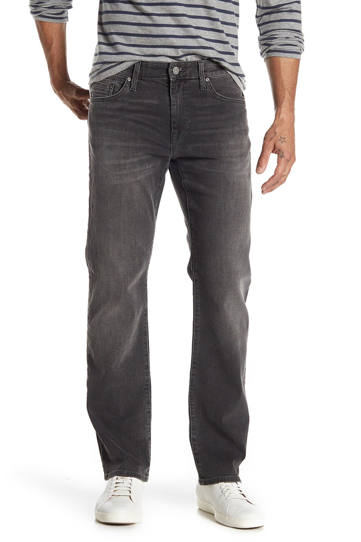 "Image of Mavi Zach Faded Straight Leg Jeans - 30-34"" Inseam"