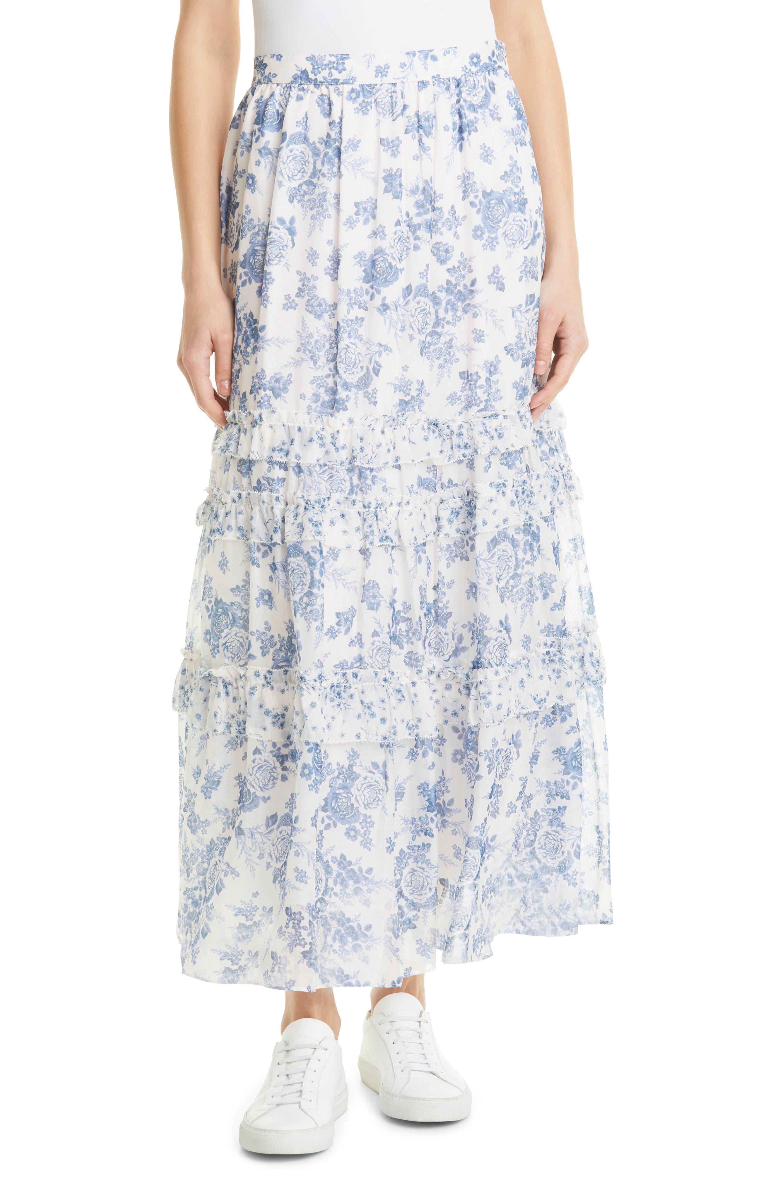 Liu Silk Maxi Skirt