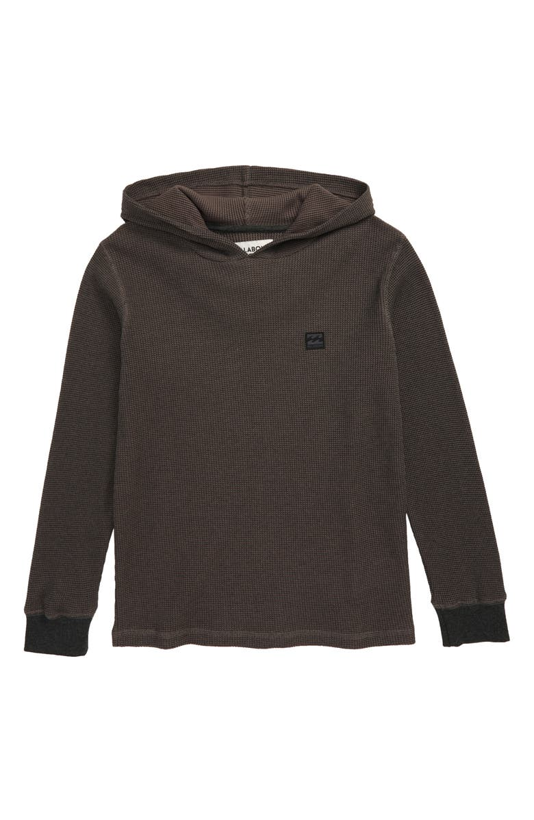 BILLABONG Keystone Thermal Pullover Hoodie, Main, color, BLACK