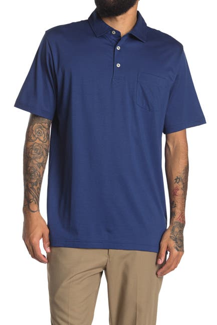 Image of Peter Millar Solid Patch Pocket Polo Shirt