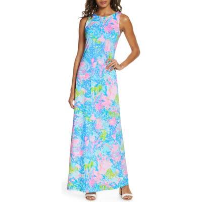 Lilly Pulitzer Marcella Maxi Dress, Blue/green