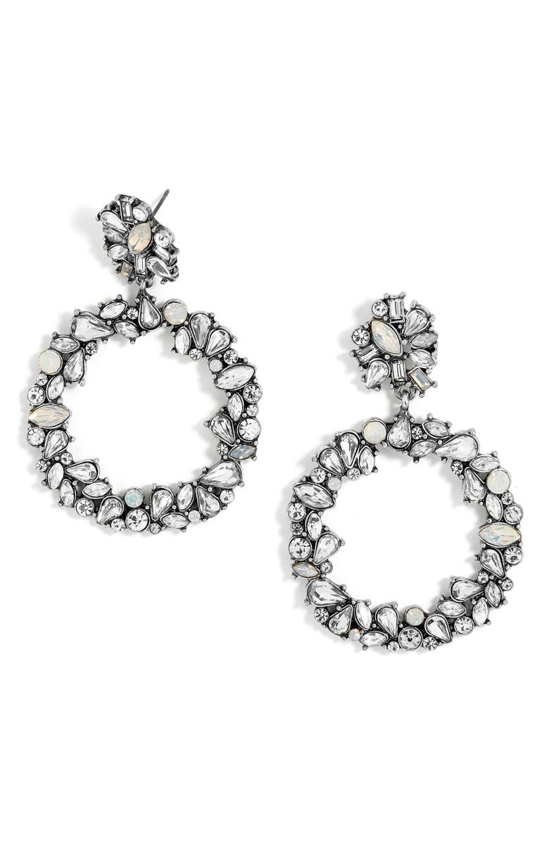 BAUBLEBAR Andorra Crystal Hoop Earrings, Main, color, 040