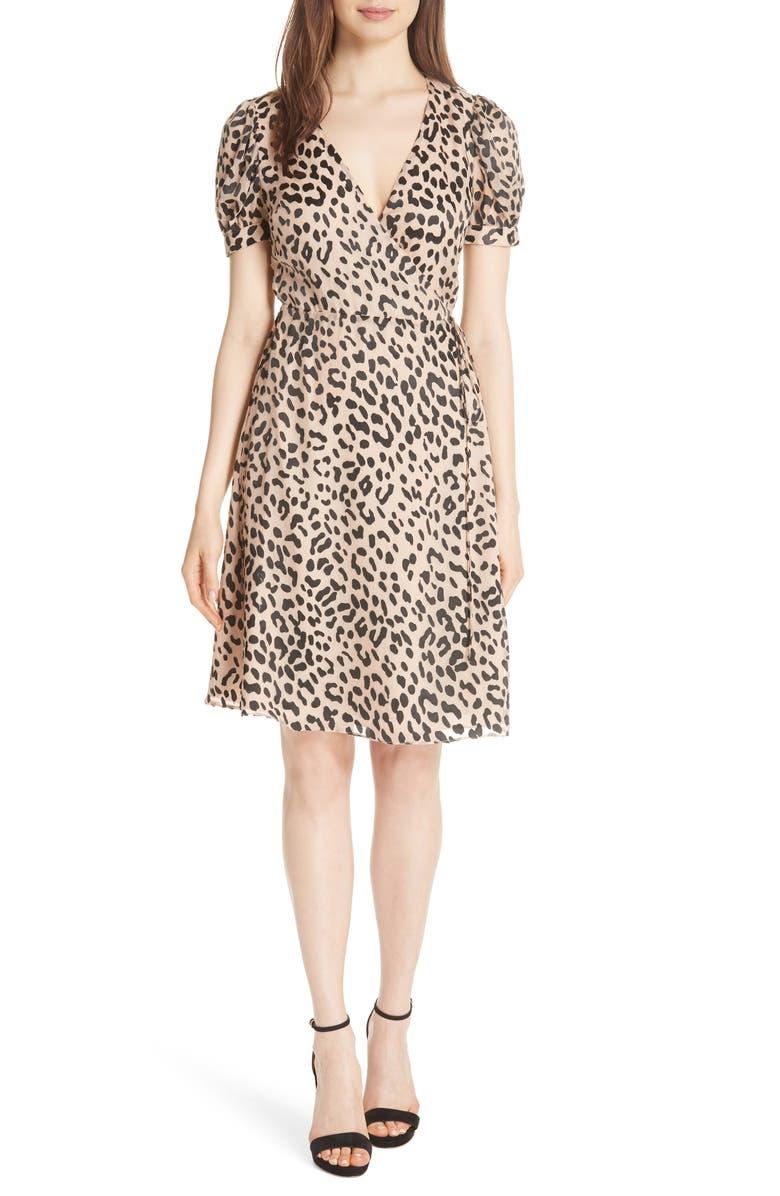 ALICE + OLIVIA Puff Sleeve Wrap Dress, Main, color, 208