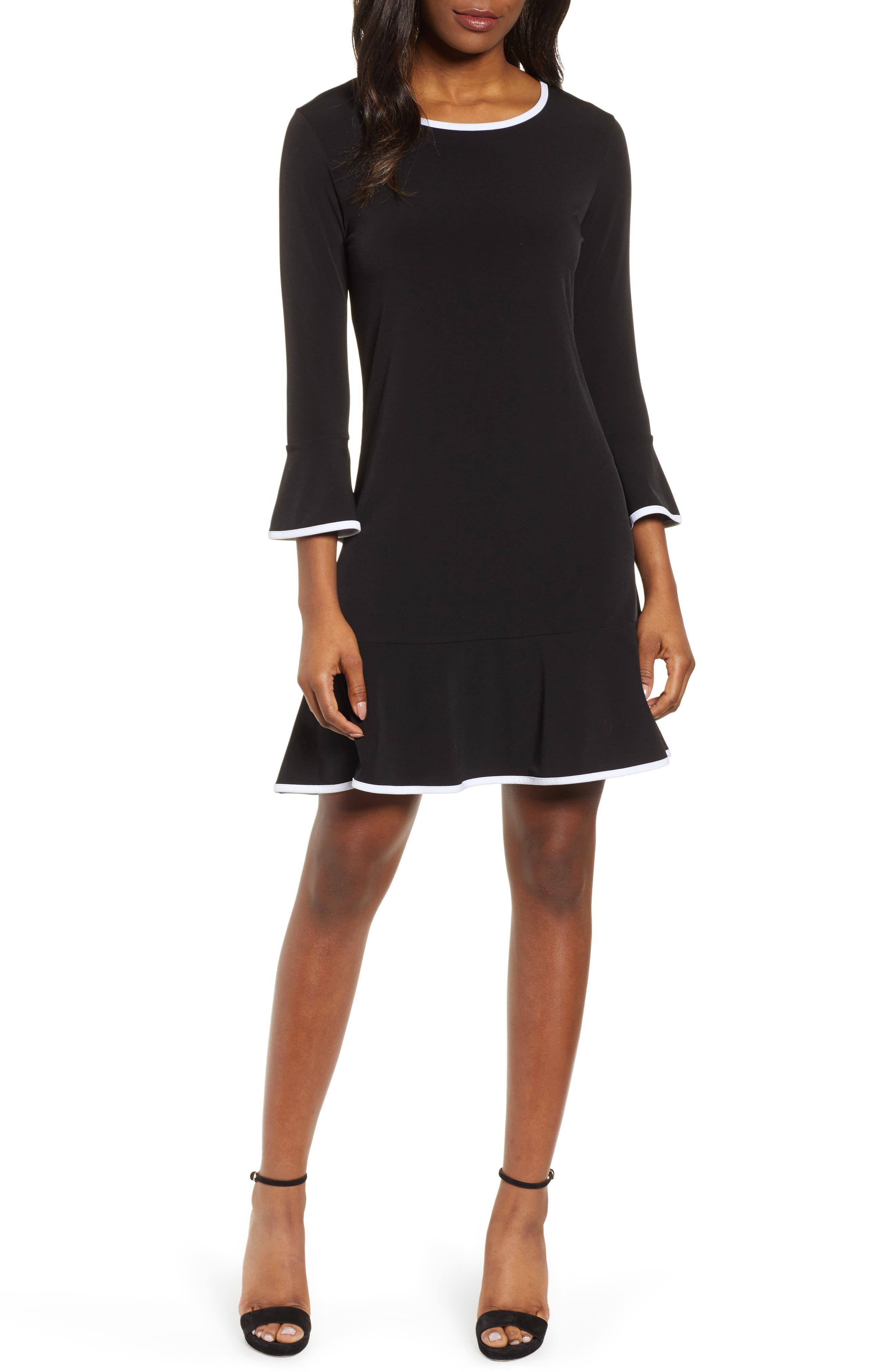 Michael Michael Kors Flounce A-Line Dress, Black