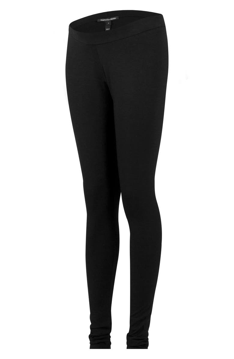 ISABELLA OLIVER 'Easy' Maternity Leggings, Main, color, CAVIAR BLACK