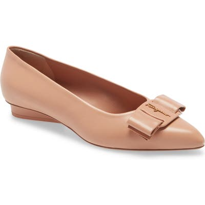 Salvatore Ferragamo Viva Bow Ballet Flat - Pink