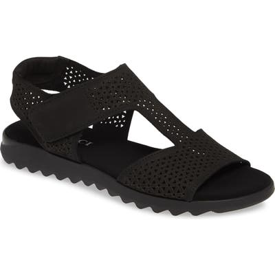 Sesto Meucci Tootie Perforated Sandal, Black