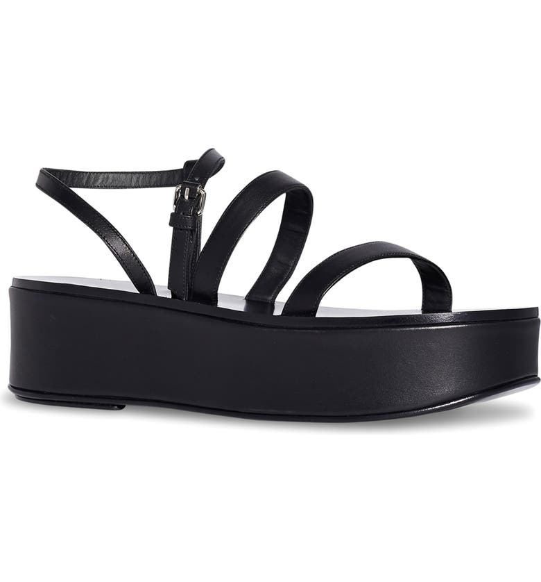 THE ROW Wedge Sandal, Main, color, BLACK