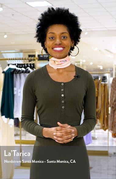 Flutter Sleeve Belted Cotton Blend Dress, sales video thumbnail
