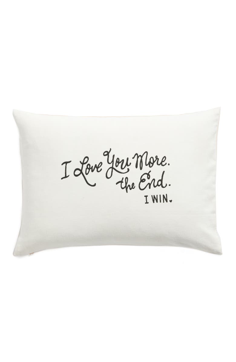 NORDSTROM at Home I Love You More Accent Pillow, Main, color, 900