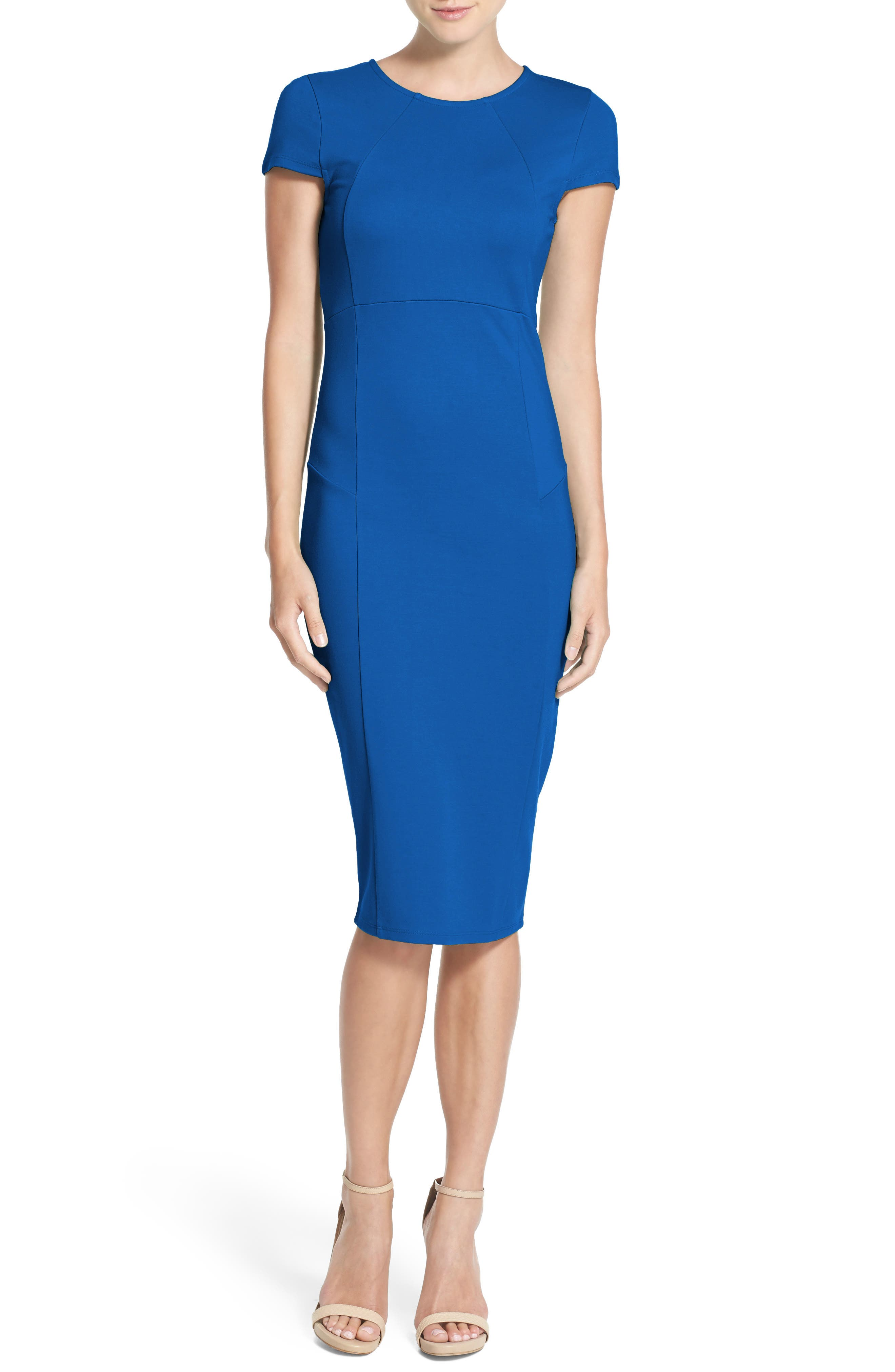 ,                             Ward Seamed Pencil Dress,                             Main thumbnail 23, color,                             424