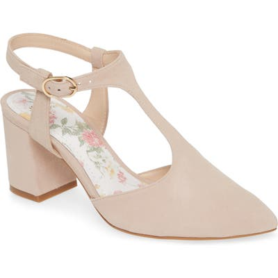Johnston & Murphy Laina T-Strap Pump, Beige