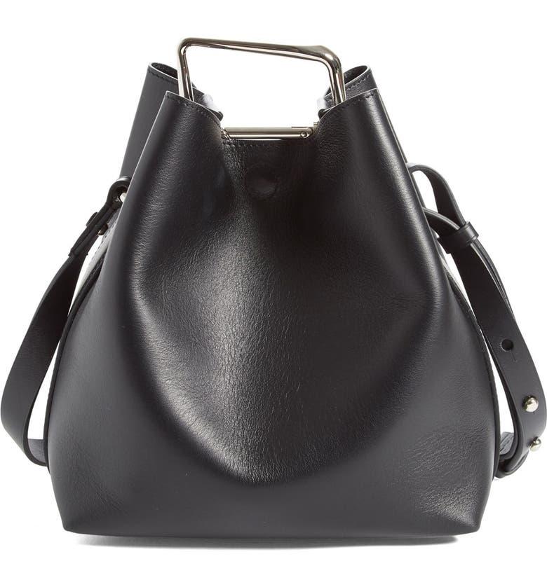 3.1 PHILLIP LIM 'Mini Quill' Leather Bucket Bag, Main, color, 011