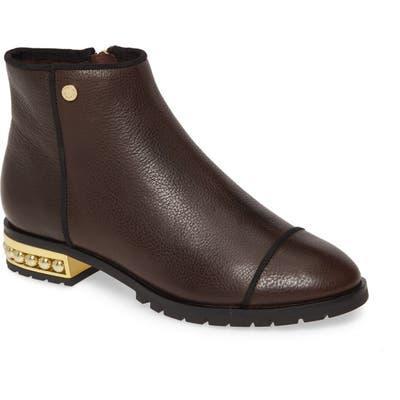 Karl Lagerfeld Paris Safia Boot- Brown