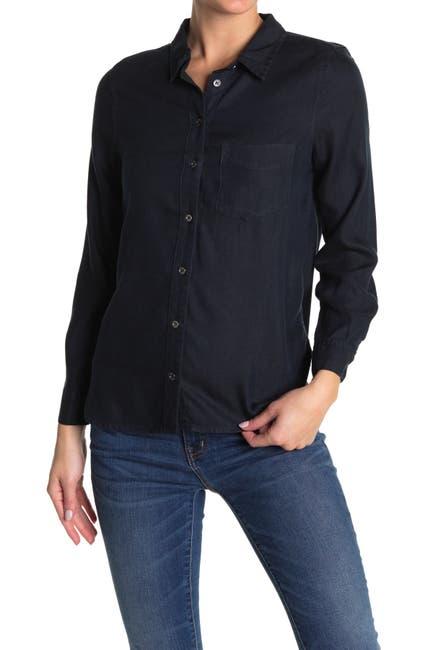 Image of Velvet Heart Bennett Long Sleeve Button Front Pocket Shirt