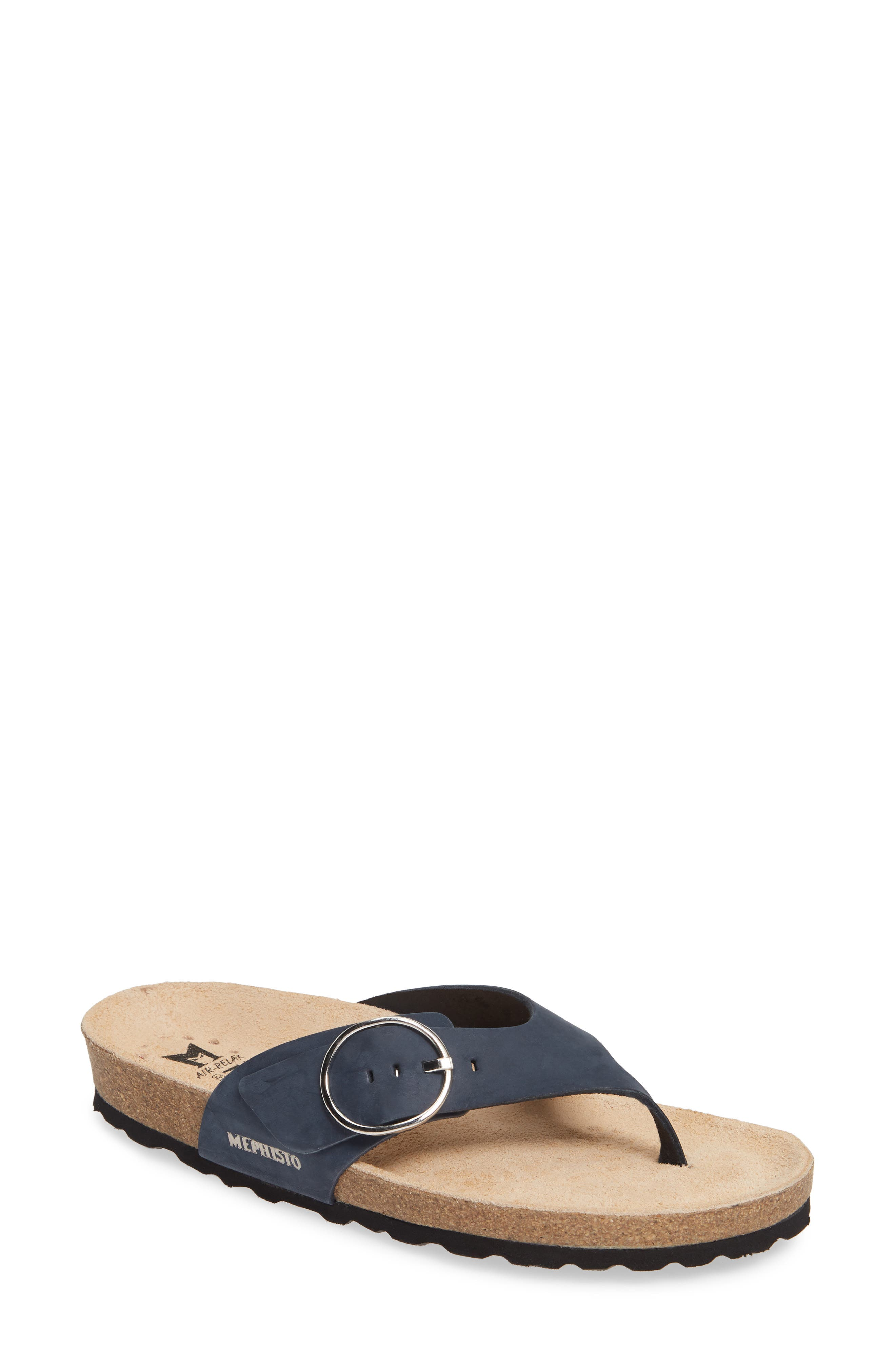 ,                             Natalina Slide Flip Flop,                             Main thumbnail 1, color,                             NAVY LEATHER