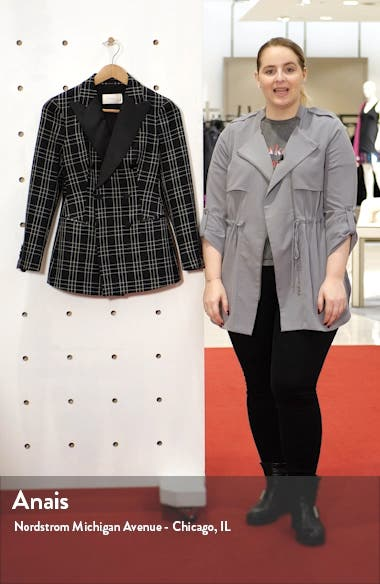 Cameron Double Breasted Check Wool Suit Jacket, sales video thumbnail