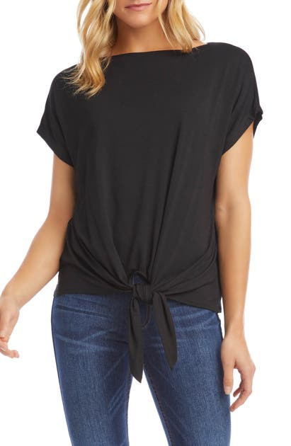 Karen Kane BOAT NECK TIE FRONT TOP