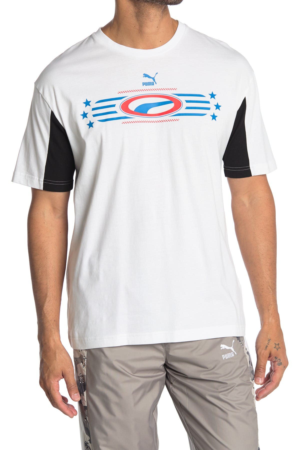 Image of PUMA Retro '90s Graphic Logo T-Shirt
