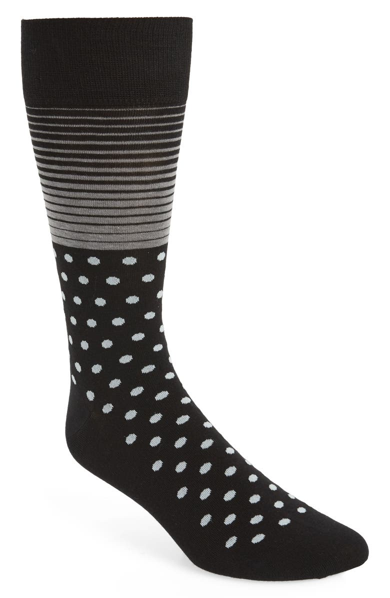 COLE HAAN Stripe & Dot Socks, Main, color, 001