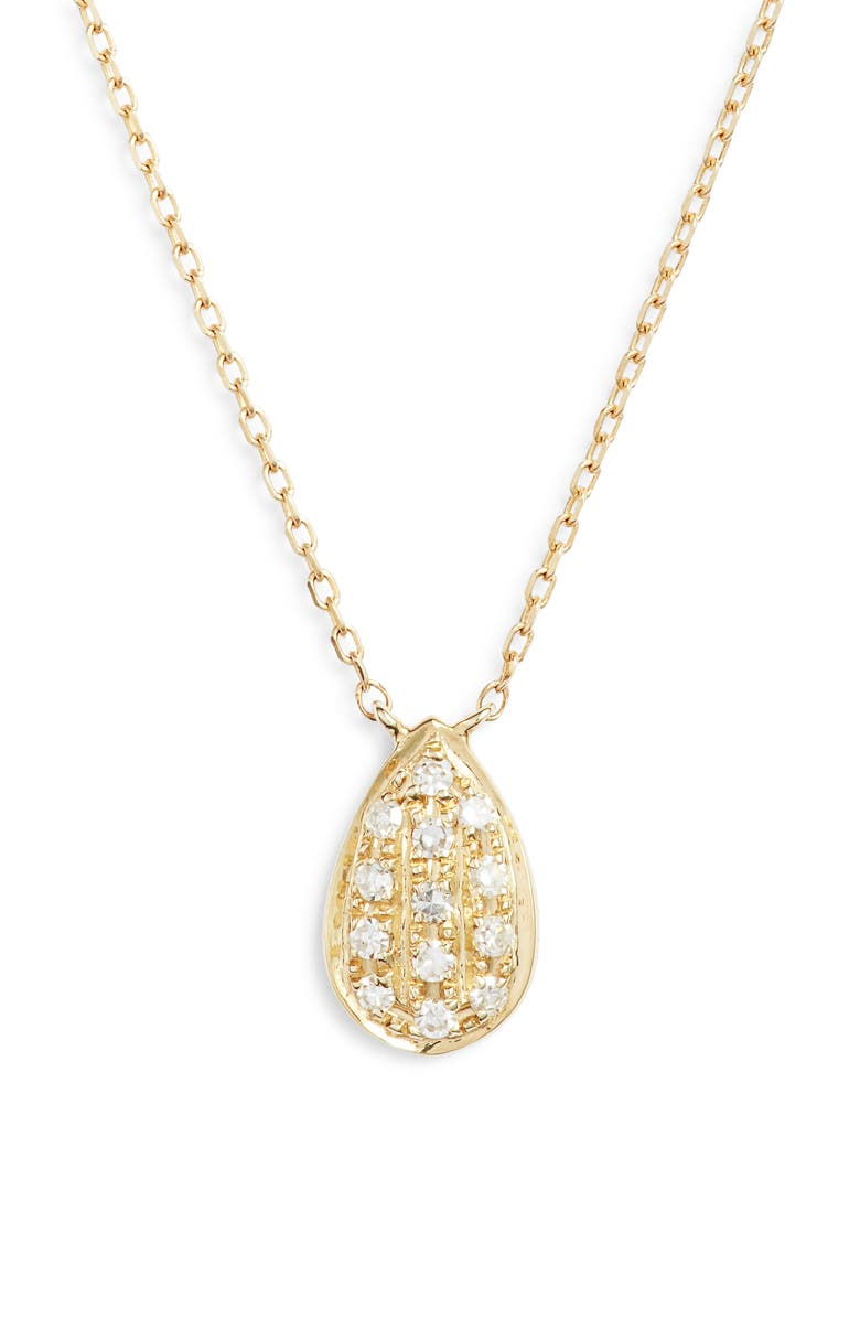 DANA REBECCA DESIGNS Samantha Lynn Diamond Pendant Necklace, Main, color, 710