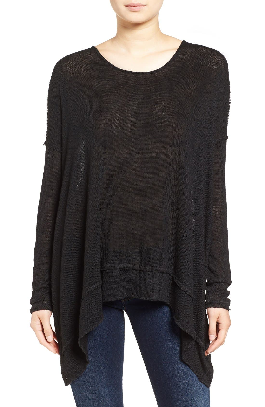 ,                             'Shadow' Oversize Hacci Open Back Top,                             Main thumbnail 5, color,                             019