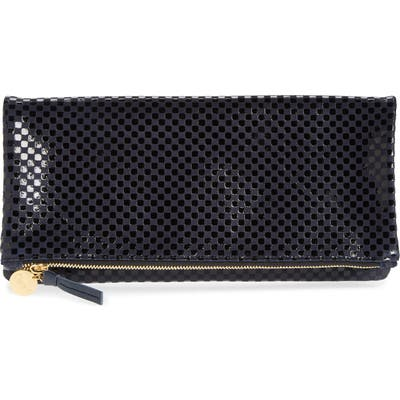 Clare V. Leather Foldover Clutch - Blue