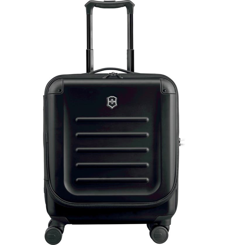 VICTORINOX SWISS ARMY<SUP>®</SUP> Spectra 2.0 Hard Sided Rolling 22-Inch Carry-On, Main, color, BLACK