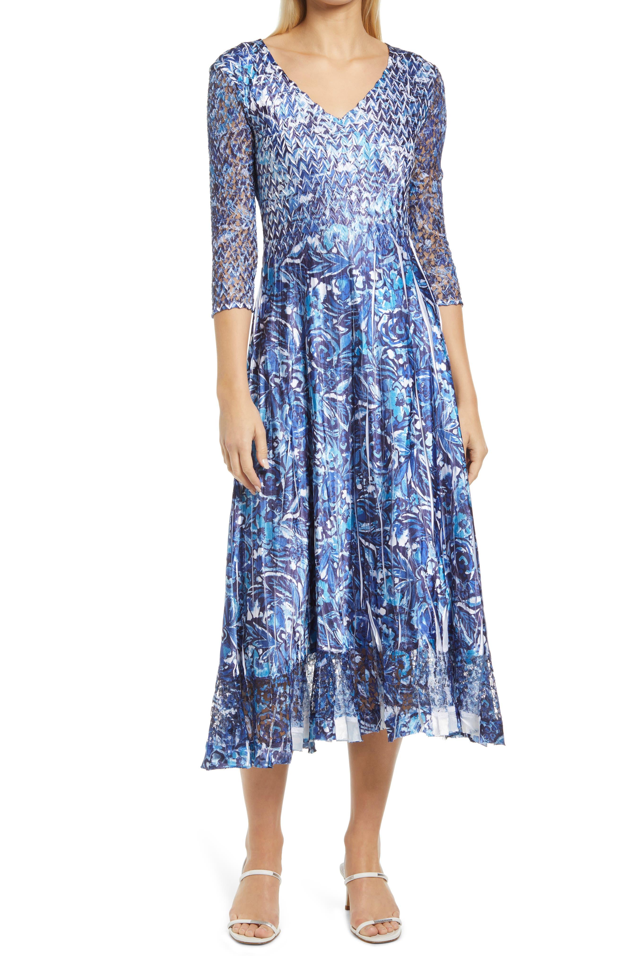 Lace Sleeve Charmuse Midi Cocktail Dress