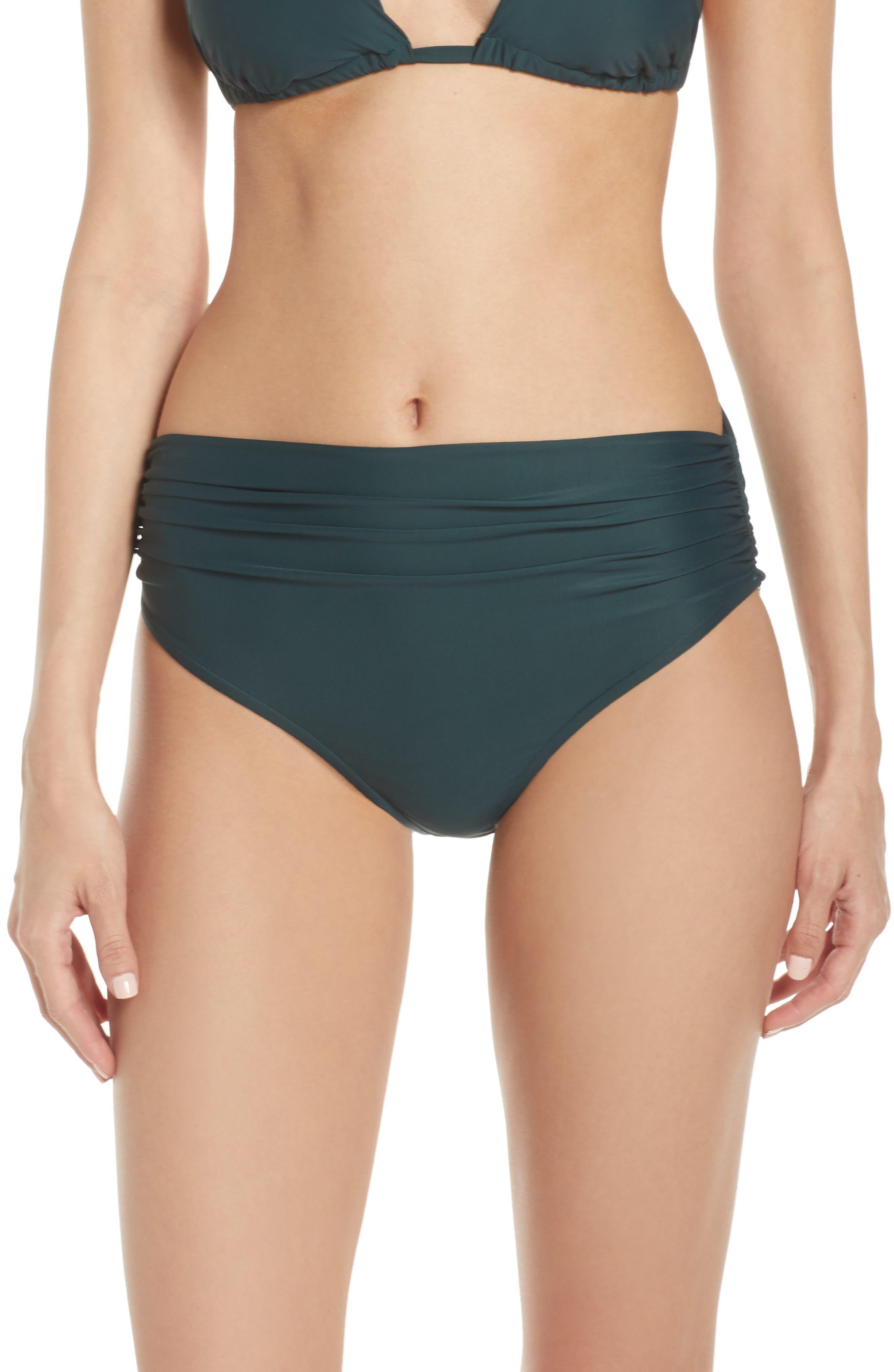 Lenny Niemeyer High Waist Bikini Bottoms, Green