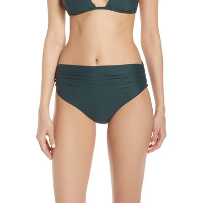 Lenny Niemeyer High Waist Bikini Bottoms, Green