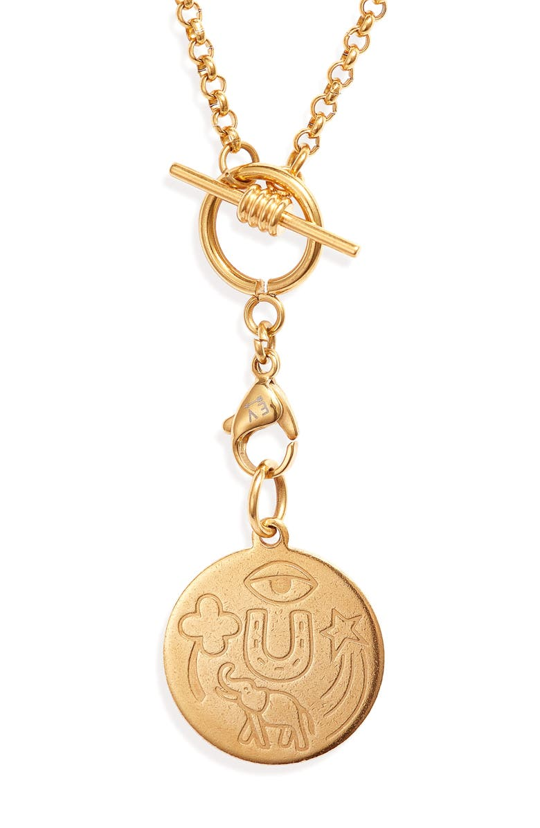 ELLIE VAIL Lucy Lucky Pendant, Main, color, GOLD