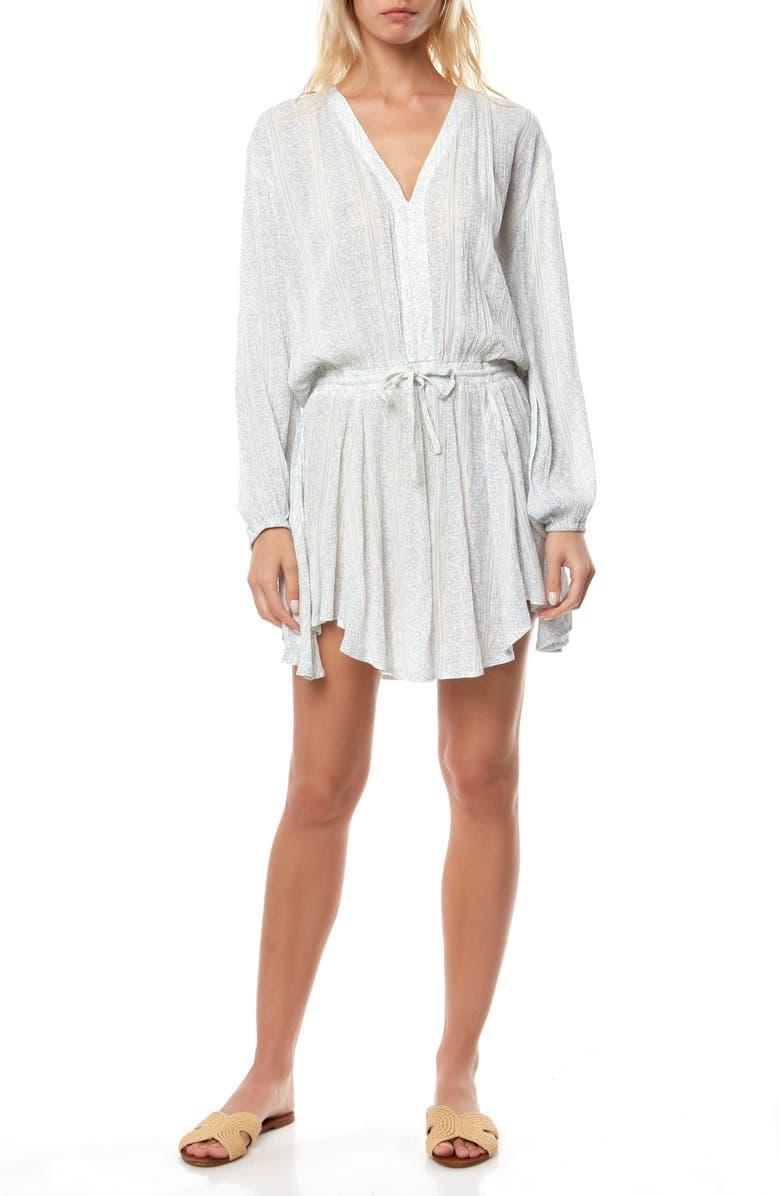 O'NEILL Resort Long Sleeve Minidress, Main, color, NAKED
