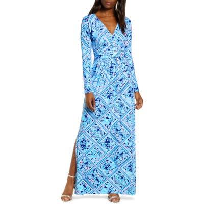 Lily Pulitzer Nichola Long Sleeve Maxi Dress, Blue