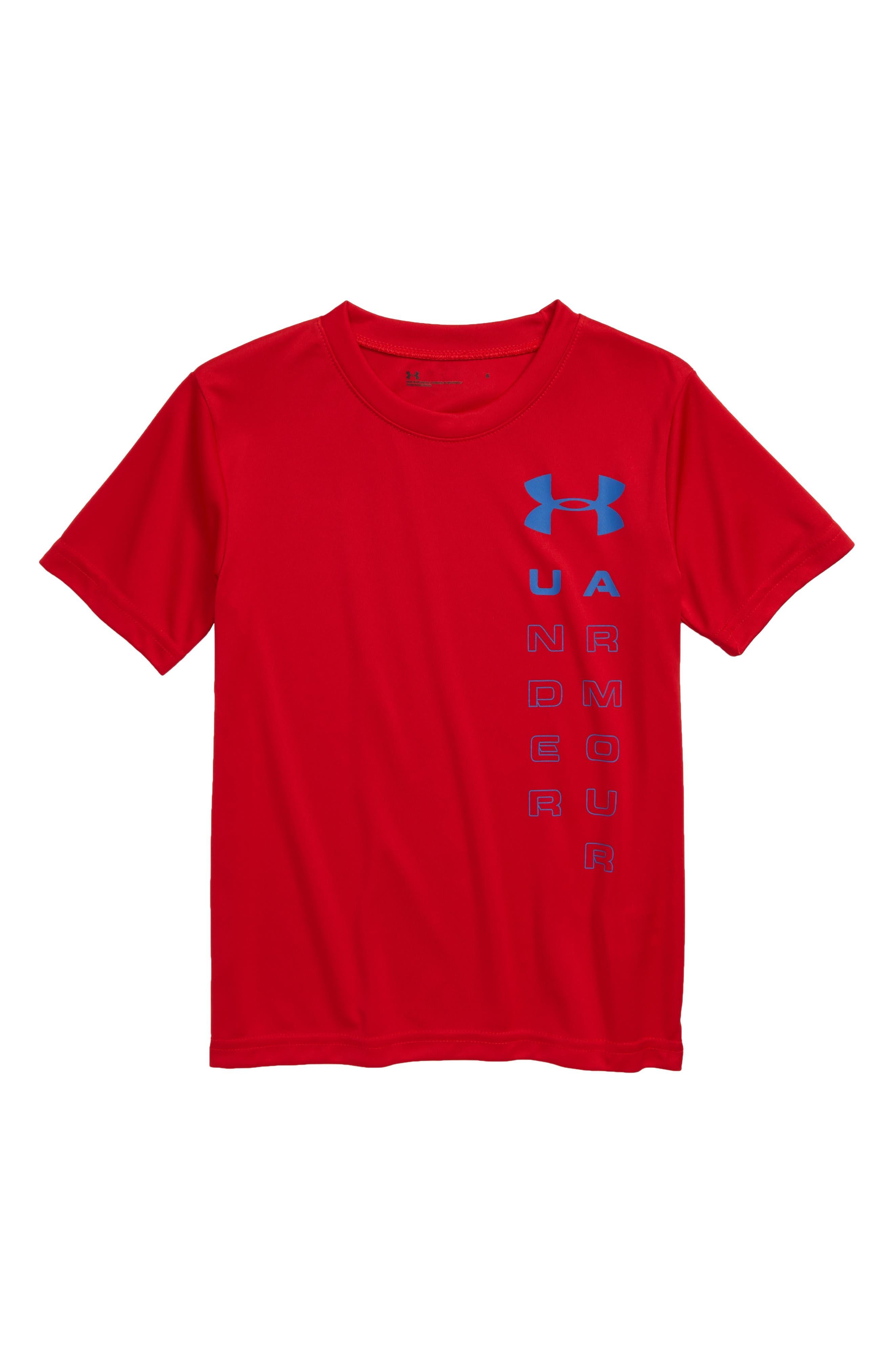 Toddler Boys Under Armour Logo Heatgear TShirt Size 2T  Red