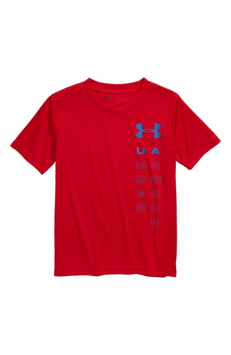 UNDER ARMOUR Logo HeatGear T-Shirt, Main, color, 600
