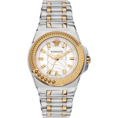Versace Chain Reaction Bracelet Watch, 40mm