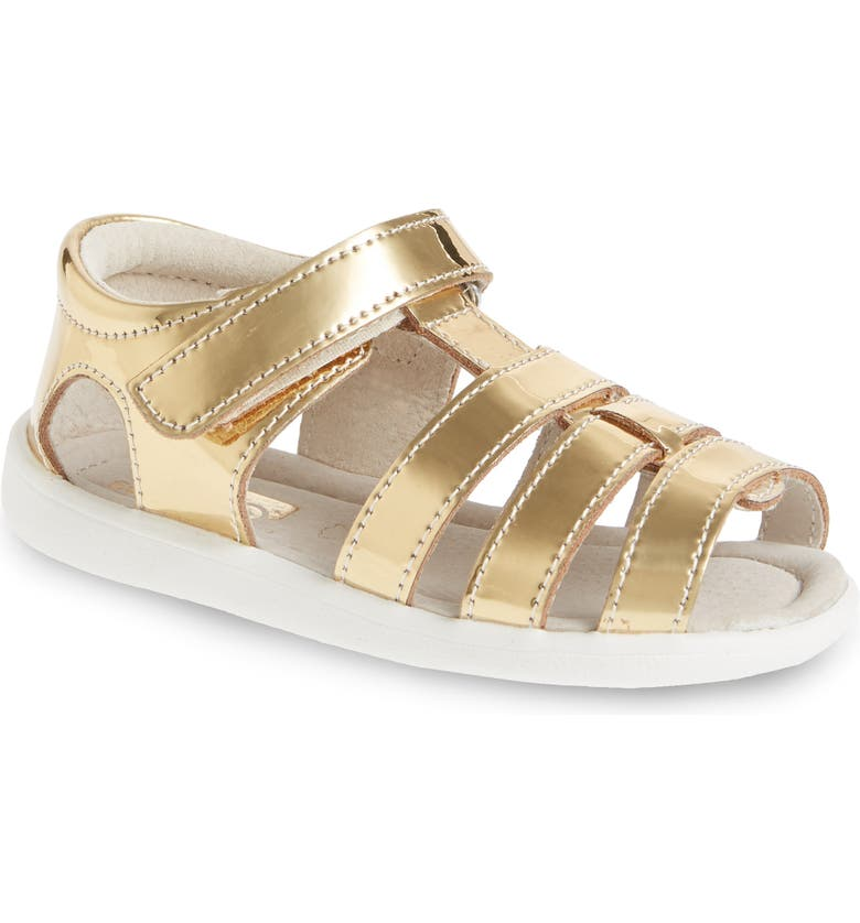 See Kai Run Fe Metallic Leather Gladiator Sandal Baby