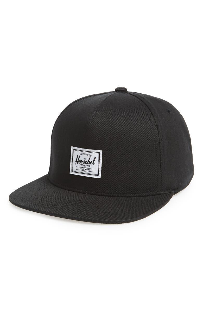 HERSCHEL SUPPLY CO. Dean Snapback Baseball Cap, Main, color, BLACK