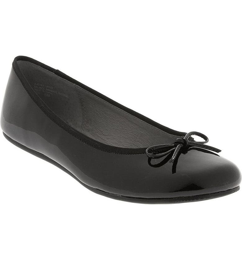 BP. 'Edie' Patent Leather Ballet Flat, Main, color, 001