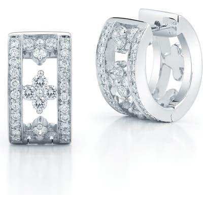 Kwiat Jasmine Diamond Huggie Earrings