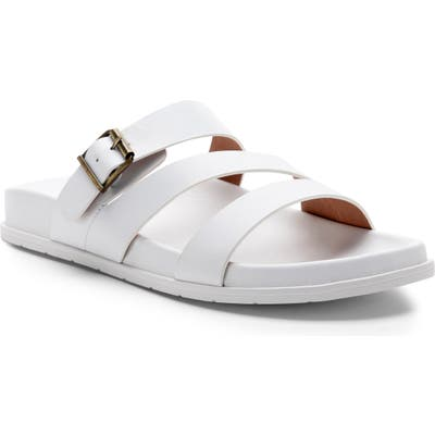 Blondo Selma Waterproof Slide Sandal- White