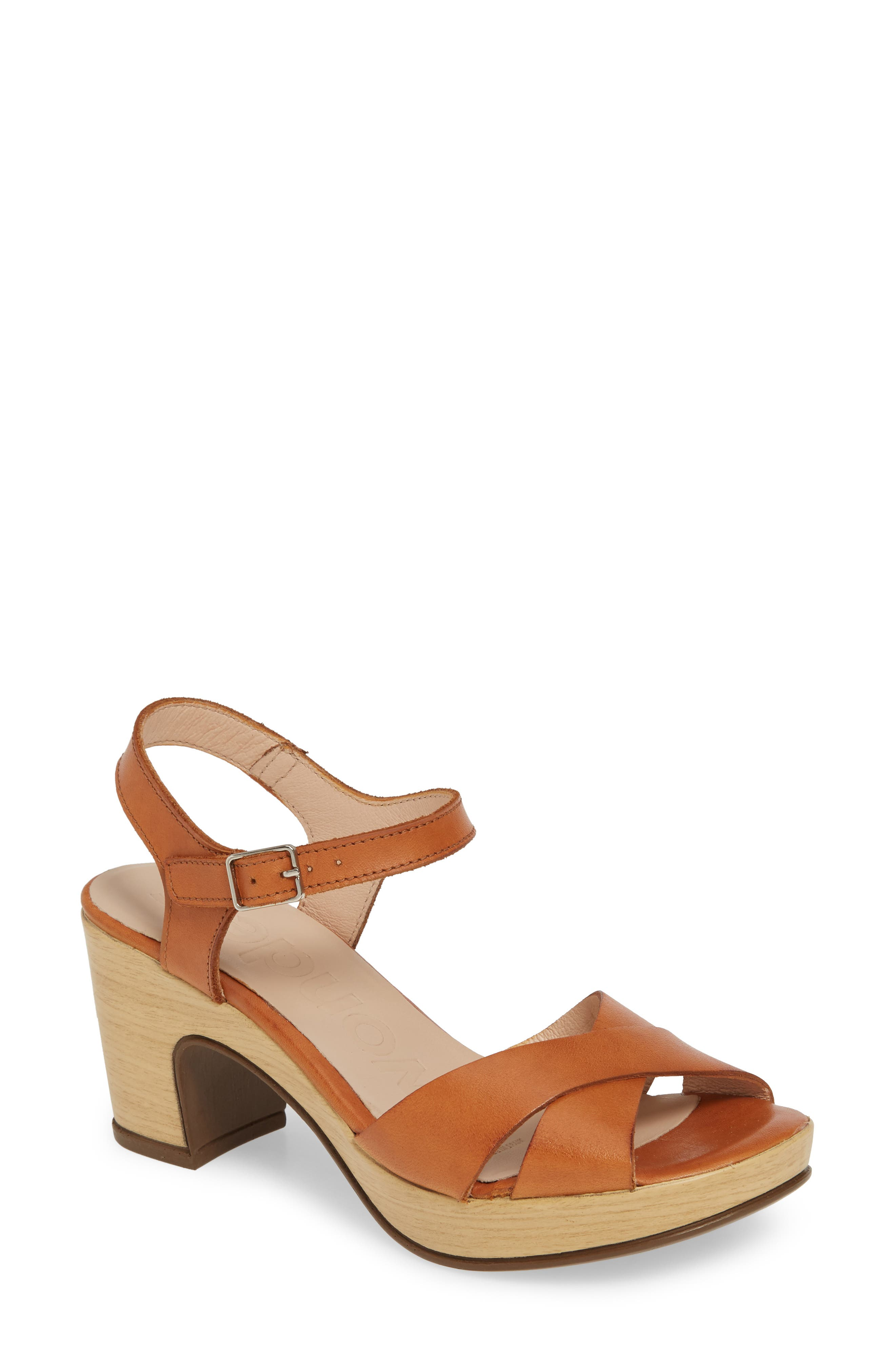 Vintage Sandal History: Retro 1920s to 1970s Sandals Womens Wonders Platform Sandal Size 6.5-7US  37EU - Brown $128.96 AT vintagedancer.com