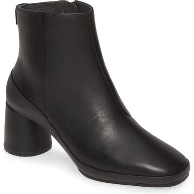 Camper Upright Column Heel Bootie, Black