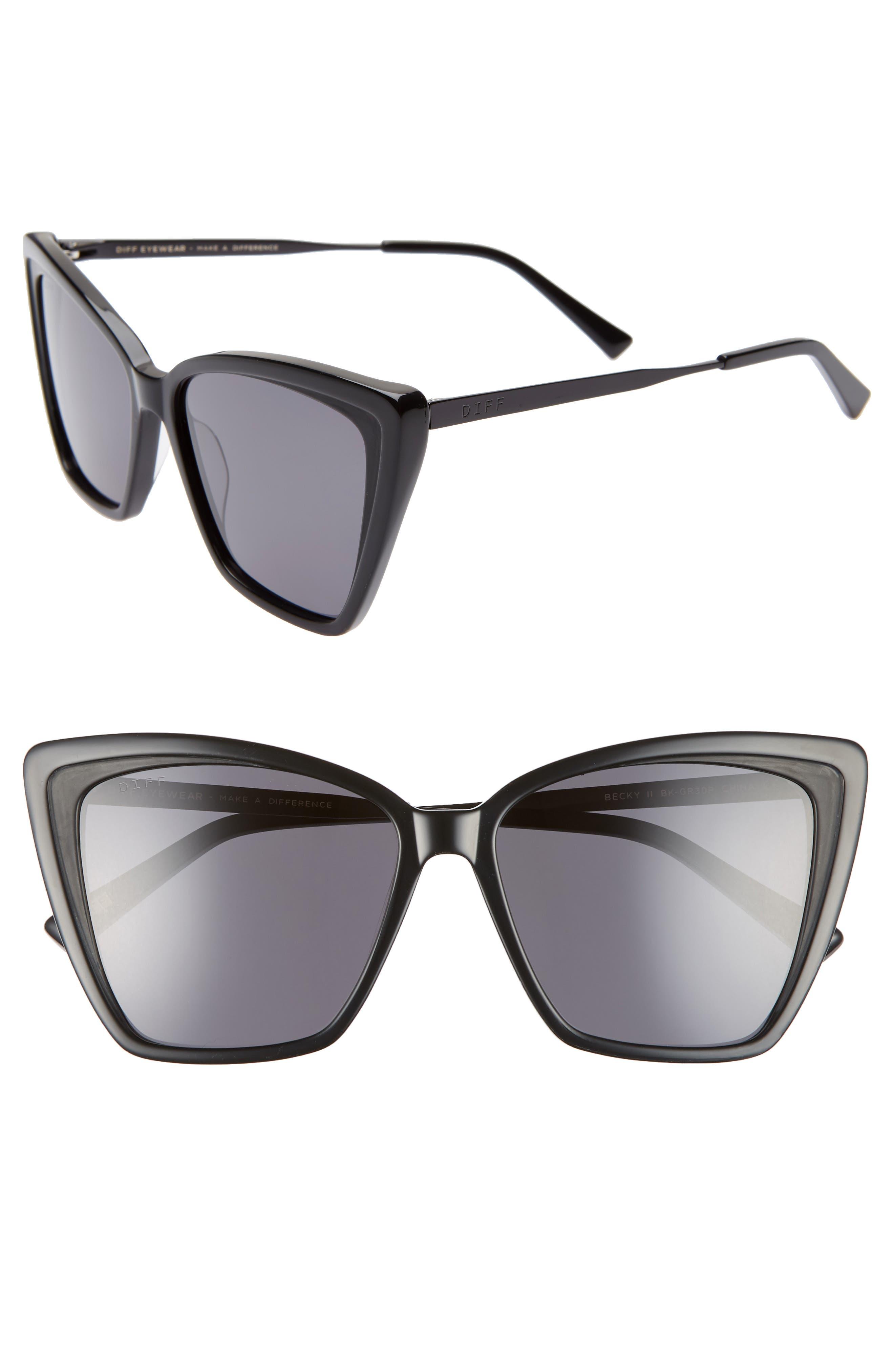 Becky Ii 55mm Cat Eye Sunglasses